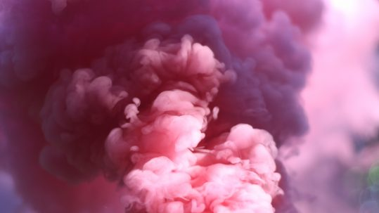 pink tinged clouds